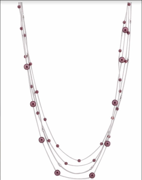Front view of Melodic Button Necklace